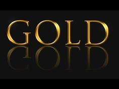 Create Gold Text in Adobe Photoshop - YouTube