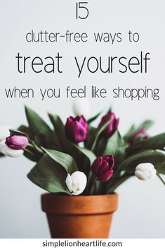 15 clutter-free ways to treat yourself when you feel like shopping: An important part of decluttering your home is slowing down the inflow of new stuff coming into your home. But we all get the urge to treat ourselves to something new every once in awhile Clutter Control, Declutter Your Life, Clutter Free Home, Clean Dishwasher, Minimalist Living, Minimalist Lifestyle, Minimalist Wardrobe, Konmari, Feel Like