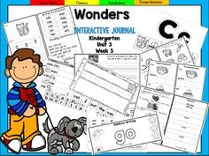 "This Kindergarten interactive journal is aligned to Common Core and to the McGraw Hill Wonders series for Unit 3-Week 3. This 16 page highly INTERACTIVE journal is ideal for teaching all of this week's skills in a powerful, student-friendly way!Complete Set Includes:-Mini Anchor Chart/Activities for Letter ""Cc"",and Genre (Informational) -""Cc"" Handwriting Practice-Phonemic Awareness Practice-Draw/Write Activities for ""Please Take Me for a Walk and ""A Neighborhood""-High Frequency Words-Vocabul..."
