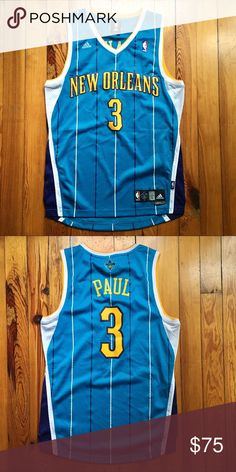 8152f92a03b Adidas New Orleans Hornets Chris Paul NBA Jersey Men's Small. Rare Retro  Throwback New Orleans