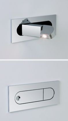 Modern LED flush-mount bedside reading light.  www.methodstudio.london
