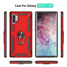 Phone Cases Covers Tough Shockproof Silicone TPU Plastic Combo Magnetic Finger Ring Holder Kickstand Galaxy Note 10, Galaxy Note 10 Pro | | Casefanatic
