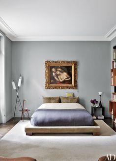 Cicognino side table - Franco Albini - Cassina - Stefano Pilati's 19th-Century Apartment in Paris