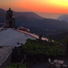 Sunset in Levanto, Italy.