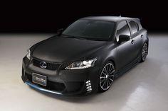 Matte Black Bison #Lexus CT 200h #Hybrid by Wald International | Lexus Enthusiast