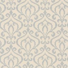 Metallic Trail (20755) - Albany Wallpapers - An all over wallpaper featuring an elegant metallic trail design. Shown here in stone and silver. Other colourways are available. Please request a sample for a true colour match. Paste-the-wall product.