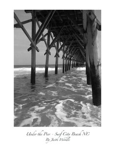 Beautiful photo of Surf City NC! Original+signed+Photo++Surf+City+Beach+Pier+NC++by+KnotWoodDesigns,+$10.00