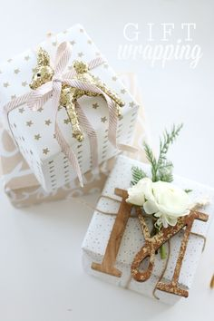 We've found a whole bunch of easy gift wrapping ideas to help pimp your presents. Here are 16 simple ideas to make your gift wrapping awesome. Christmas Present Wrap, Christmas Gift Wrapping, Best Christmas Gifts, Christmas Presents, Christmas Fun, Christmas Decorations, Beautiful Christmas, Christmas Ornaments, Present Wrapping