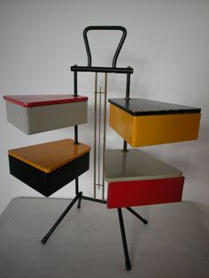 SEWING BOX / 50s Dutch Teders Metalux  / mid by dutchdetails, €350.00