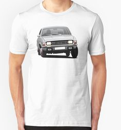 Austin Allegro illustration silver by knappidesign  #austinallegro #austin #leyland #british #uk #automobile #car #tshirt #print #illtustration #redbubble #70s #classic #silver