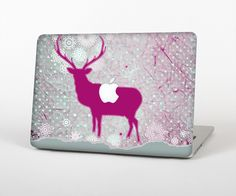 """The Pink Stitched Deer Collage Skin Set for the Apple MacBook Pro 15"""" with Retina Display from Design Skinz"""