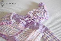 Casaquinho De Lã Para Bebê Feito A Mão