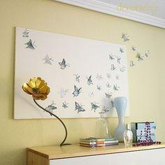 mariposas en la pared