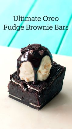 Brownie Desserts, Brownie Recipes, Easy Desserts, Cake Recipes, Oreo Dessert Recipes, Indian Dessert Recipes, Brownie Bar, Fun Baking Recipes, Sweet Recipes