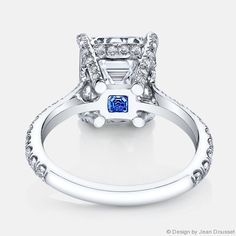 love the hidden gem underneath  Riviera-Emerald-Cut-Diamond-Engagement-Ring-Jean-Dousset-Grey-Signature-Stone