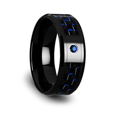 Shop for Sorrell Black Ceramic Ring With Black And Red Carbon Fiber And Red Ruby Setting. Get free delivery On EVERYTHING* Overstock - Your Online Jewelry Destination! Unusual Rings, Unique Diamond Rings, Unique Wedding Bands, Wedding Rings, Thing 1, Tungsten Carbide Rings, Tungsten Wedding Bands, Ceramic Jewelry, Blue Rings