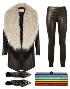 """rock"" by nainkaba on Polyvore featuring J Brand, Zadig & Voltaire, River Island and Edie Parker"