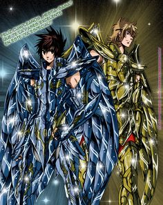 Saint Seiya - The Lost Canvas - Pegasus Tenma & Sagittarius Sisyphe