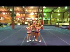 cheerleading stunting G-Force Mini level 1 Stunt Easy Cheerleading Stunts, High School Cheerleading, All Star Cheer, Cheer Mom, Cheer Routines, Cheer Practice, Cheer Quotes, Cheer Coaches, Cheer Gifts