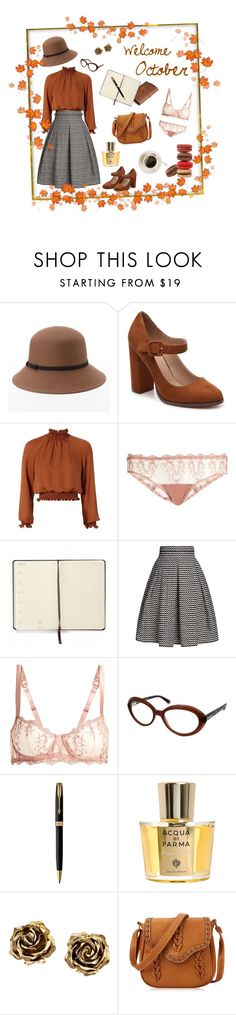"""Welcome October"" by valentinagrassini ❤ liked on Polyvore featuring Apt. 9, Mix No. 6, Moleskine, Cinq à Sept, Fleur of England, Rumour London, Tom Ford, Parker, Acqua di Parma and Tiffany & Co."
