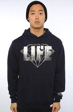 Diamond Supply Co. Men's The NY Diamond Life Hoody in Navy, Sweatshirts at Hoodiezz.com.