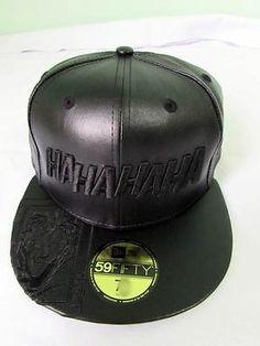 cd39ac5ad05ef NEW ERA CAP HAT 59FIFTY FAUX LEATHER THE JOKER CARD BATMAN DC COMICS 7 1 4