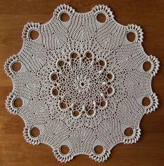 """Lacy Delight"" from Leisure Arts #75024 ""Delightful Doilies"" a Patricia Kristoffersen design. DMC Cebelia Crochet Cotton, Size 10 color: #712 Cream 16-1/4 inches using a size 5 (1.90mm) steel hook"