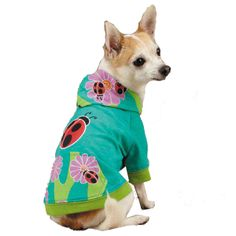 Zack & Zoey Flutter Bugs Dog Pullover - Lady Bug at BaxterBoo