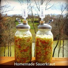 The hardest part about making sauerkraut is having to wait 3-4 weeks for it to be ready. But it's definitely worth the wait! #patience #sauerkraut #homemade #healthy #guthealth #tasty #cabbage #carrots #leeks #horseradish #broccoli #probiotics #natural #takecareofyourself #raw #vegan