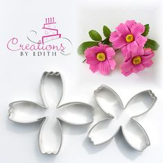 Cosmos petal flower cutter, for fondant, gum paste or cold porcelain flowers