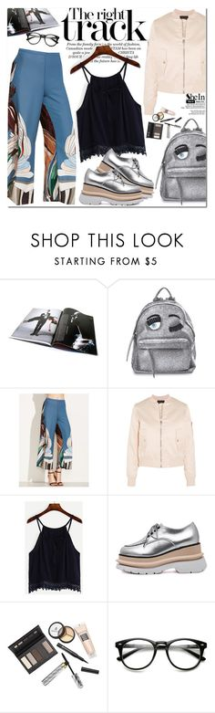 """""""Shein"""" by oshint ❤ liked on Polyvore featuring Chiara Ferragni, Maje, Borghese, awesome, amazing, fabulous, pants and shein"""