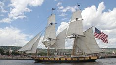 Watch live on the DNT Harbor Cam Nine tall ships will make their way under the Aerial Lift Bridge this afternoon to kick off the 2016 Tall Ships Duluth festival. The nine ships are scheduled to enter the canal beginning at about 1 p. Tall Ships Duluth, Sailing Ships, Boat, Bridges, News, Dinghy, Boats, Sailboat, Tall Ships