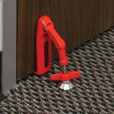 Portable Security Door Device, I'd love to have this for traveling in the hotels. Doorstop, travel security for hotel or overnight stays.