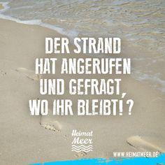 Der Strand hat angerufen... Mehr vom Meer bekommt ihr hier >>