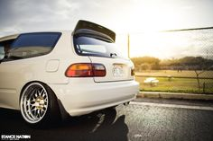 Slammed & Fitted Stanced Honda Civic EG Hatchback