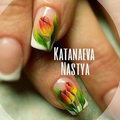 Tulip Nails, katanaeva_nails