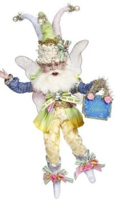 Mark Roberts Fairies, Birthday Party Fairy Small 9 Inches 2019 Collection Mark Roberts Fairies 2019 Collection Birthday Party Fairy Small 9 Inches Includes a certificate of authenticity and registration which records your name as the original purchaser Old World Christmas, Halloween Christmas, Mark Roberts Fairies, Mermaid Fairy, Easter Parade, Stocking Holders, Flower Fairies, Tooth Fairy, Plush Animals