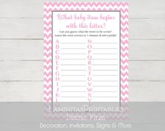 Baby shower games. Baby shower games girl. by LaminitasPrintables