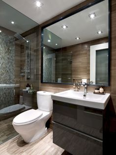 The best modern bathroom ideas. Create your perfect bathroom whatever your style, budget and room size. #modernbathroomdesign