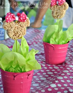 This idea would work for grad parties, bdays, can use other items that r non perishable on sticks for centerpieces