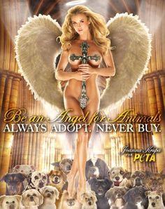 Joanna Krupa Unveils New PETA Campaign!