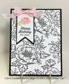 Birthday Blooms in Black & White and a little Pink | As The Ink Dries | Bloglovin'