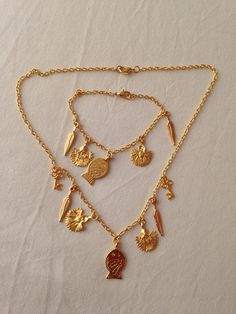 Kolye&bileklik gold rengi