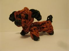 Rainbow Loom Dachsund Dog tutorial by Lovely Lovebird Designs. Puppy. Figure.