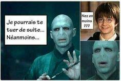 Harry et Voldemort 😂 Harry Potter Jokes, Harry Potter Anime, Harry Potter Fandom, Harry Potter World, Photoshop Memes, Meme Photo, Draco Malfoy, Saga, Minions
