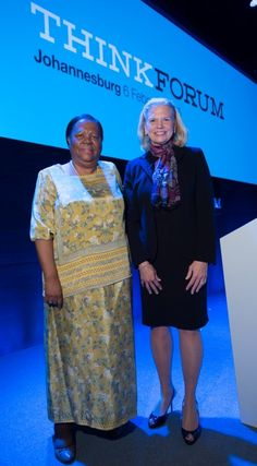 IBM CEO Ginni Rometty (right) with Minister of Science and Technology, Naledi Pandor