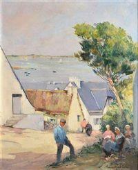 Village de pêcheurs sur la côte, Louis Garin