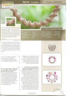 Blog de Goanna: Esquema de Collar cordón en espiral de abalorios