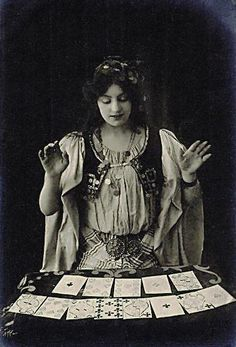 Gypsy Fortune Teller with Tarot Cards - Circus