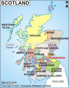 Maps: Scotland map. #history #maps